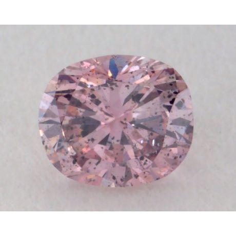 0.12 Carat, Natural Fancy Brownish Purplish Pink, Cushion Shape, SI3 Clarity, GIA
