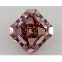 0.36 Carat, Natural Fancy Intense Pink, Radiant Shape, VS2, GIA