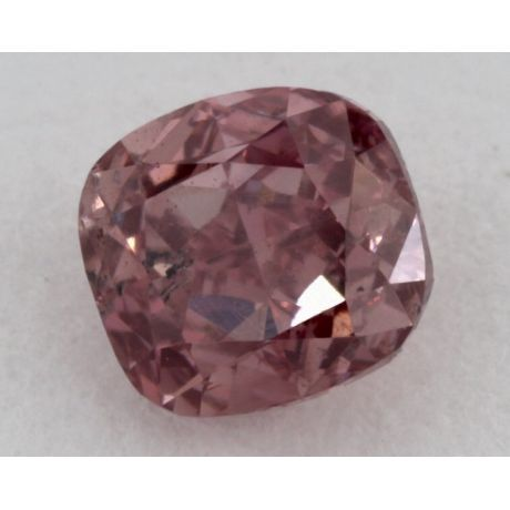 0.45 Carat, Natural Fancy Intense Pink, Cushion Shape, SI2 Clarity, GIA