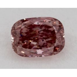 0.51 Carat, Natural Fancy Intense Pink, Cushion Shape, SI1 Clarity, GIA