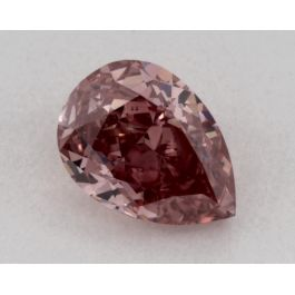 0.56 Carat, Natural Fancy Intense Pink, Pear Shape, SI1 Clarity, GIA