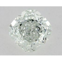 0.73 Carat, Natural Fancy Light Green, Cushion Shape, IF Clarity, GIA