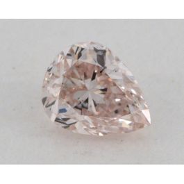 0.20 Carat, Natural Fancy Light Pink, Pear Shape, I1 Clarity, GIA