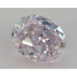 0.32 Carat, Natural Pink, Oval Shape, SI1 Clarity, IGI