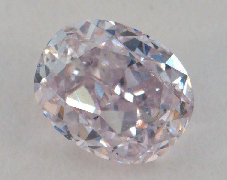 0.32 Carat, Natural Pink, Oval Shape, SI1 Clarity, IGI