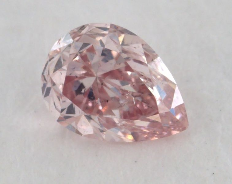 0.17 Carat, Natural Fancy Pink, Pear Shape, SI1 Clarity, GIA