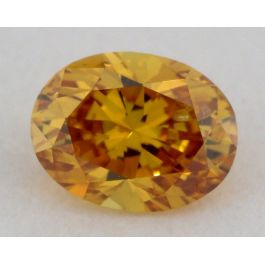 0.19 Carat, Natural Fancy Deep Yellow-Orange, Oval Shape, SI2 Clarity, GIA