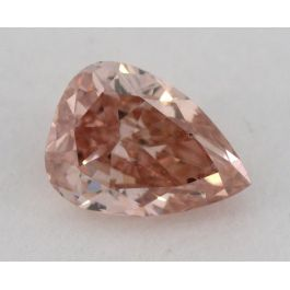 0.16 Carat, Natural Fancy Brownish Orangy Pink, Pear Shape, I1 Clarity, GIA