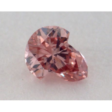 0.07 Carat, Natural Fancy Intense Orangy Pink, Novelty Shape, SI1 Clarity, GIA