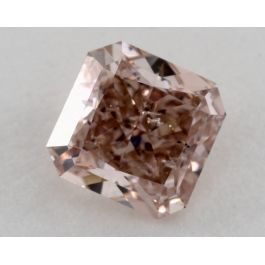 0.79 Carat, Natural Fancy Brown-Pink, Radiant Shape, I1 Clarity, GIA