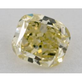 0.63 Carat, Natural Fancy Intense Green-Yellow, Cushion Shape, VS2 Clarity, GIA