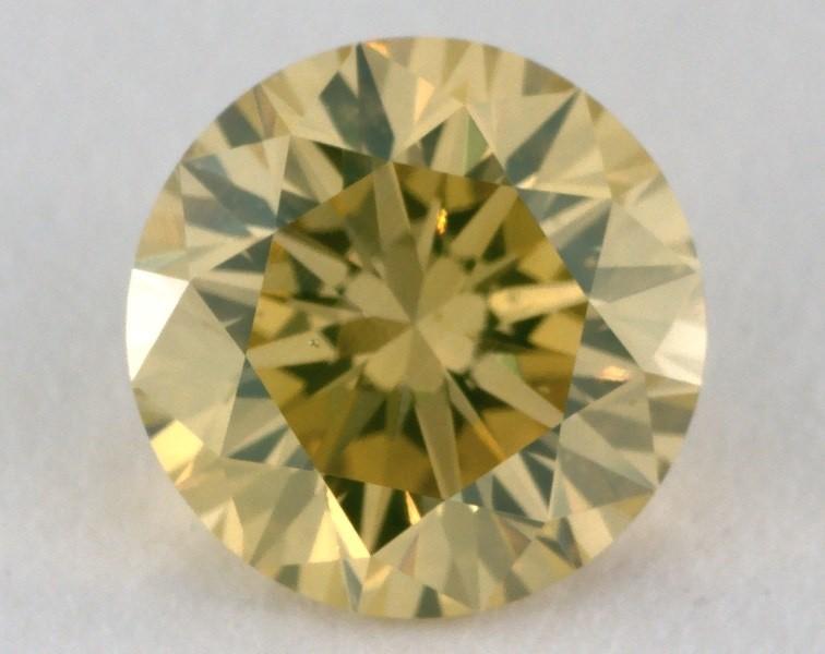 1.23ct., Fancy Intense Greenish Yellow, W100, round, SI1 clarity
