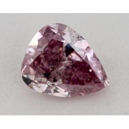 0.53 Carat, Natural Fancy Intense Purplish Pink, Pear Shape, SI2 Clarity, GIA