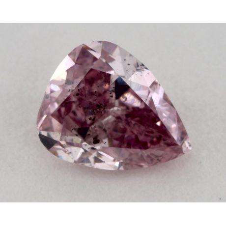 0.53 Carat, Natural Fancy Intense Purplish Pink, Pear Shape, SI2 Clarity, GIA