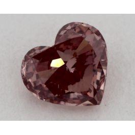 0.53 Carat, Natural Fancy Deep Pink, Heart Shape, VS1 Clarity, GIA
