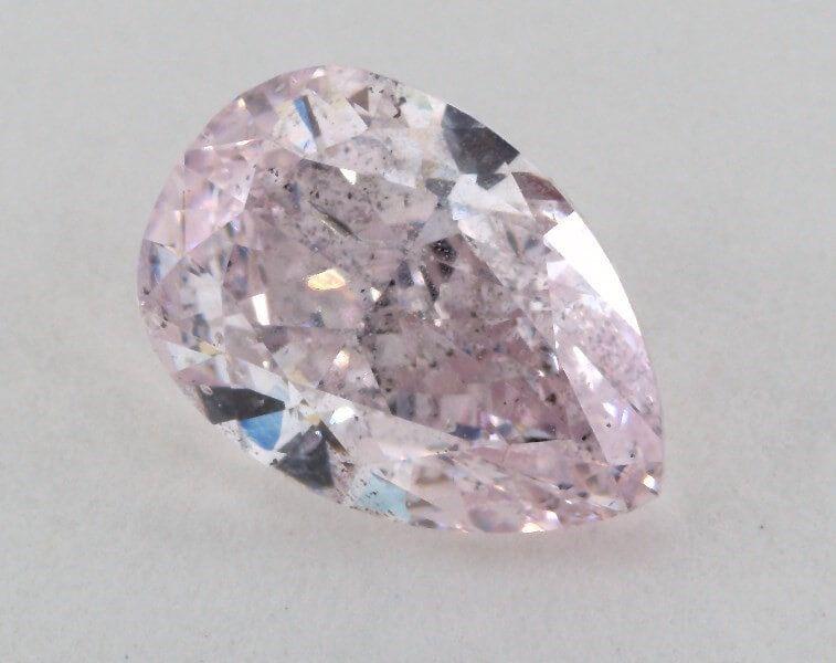 1.86 Carat, Natural Fancy Light Purplish Pink, Pear Shape, I1 Clarity, GIA