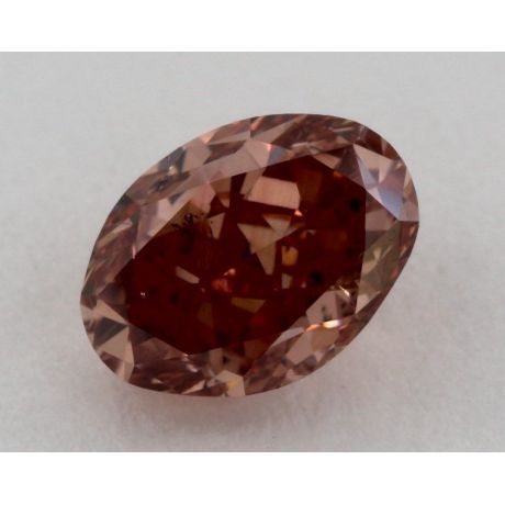 1.01 Carat, Natural Fancy Deep Brown-Pink, Oval Shape, SI2 Clarity, GIA