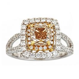 2.01 carat Champagne Diamond Ring with 6.20gr. 18K Gold
