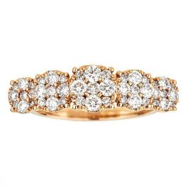1.12 carat Ring with 3.30gr. 18K Pink Gold