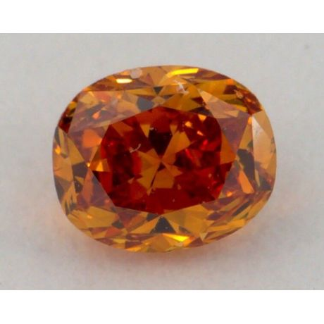 0.35 Carat, Natural Fancy Deep Brownish Orange, Oval Shape, VS2 Clarity, GIA