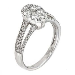 0.95 carat Ring with 3.50gr. 18K White Gold