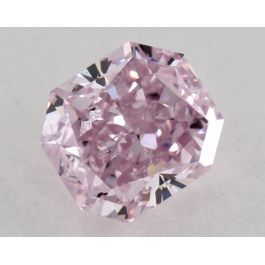 0.46 Carat, Natural Fancy Intense Purple-Pink, Radiant Shape, SI2 Clarity, GIA
