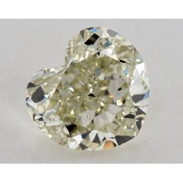 1.51 Carat, Natural Fancy Intense Yellowish Green, Heart Shape, SI2 Clarity, GIA