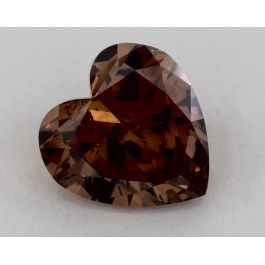 2.17 Carat, Natural Fancy Deep Brownish Pink, Heart Shape, I1 Clarity, GIA