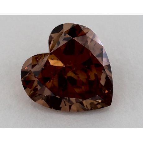 2.17 Carat, Natural Fancy Deep Pink-Brown, Heart Shape, I1 Clarity, GIA
