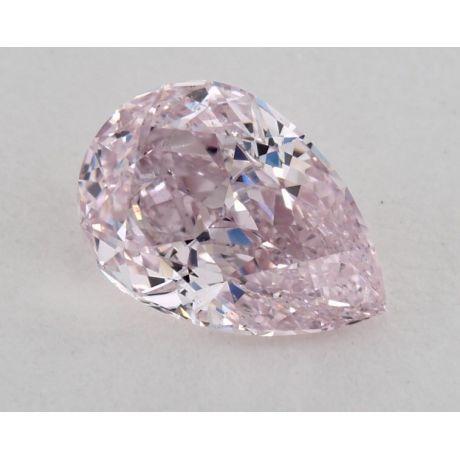 0.60 Carat, Natural Fancy Purplish Pink, Pear Shape, SI1 Clarity, GIA