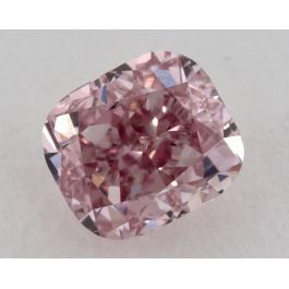 0.35 Carat, Natural Fancy Intense Pink, Cushion Shape, VS2 Clarity, GIA