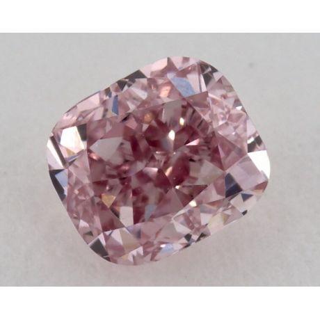 0.35 Carat, Natural Fancy Intense Pink, Cushion Shape, VS2 Clarity, GIA