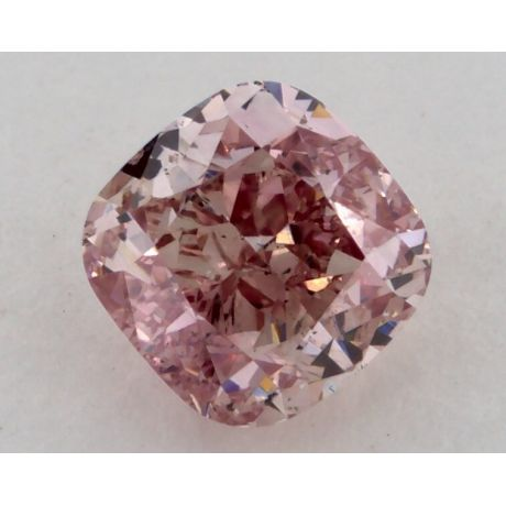 0.81 Carat, Natural Fancy Intense Pink, Cushion Shape, SI1 Clarity, GIA