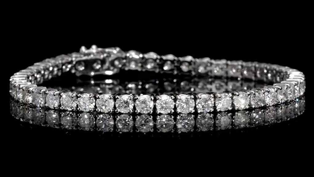 9.22carat, Tennis Bracelet, H Color, 15gr. 18K Gold