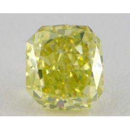 1.04 Carat, Natural Fancy Intense Green-Yellow, Radiant Shape, SI2 Clarity, GIA