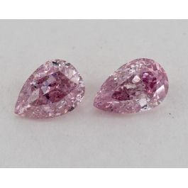 Pair of Fancy Intense Purplish Pink, 0.31 Carats each, GIA