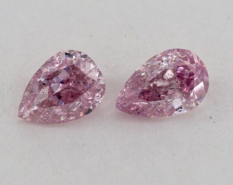 Pair of Fancy Intense Purplish Pink, 0.31 Carats each, GIA
