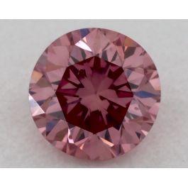 0.13 Carat, Fancy Intense Pink, Round, GIA