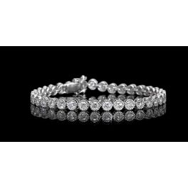 5.22 carat, 36 stones Tennis Bracelet with 18.30gr. 18K Gold