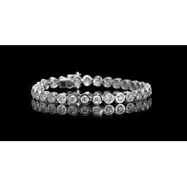 6.25 carat, 32 stones Tennis Bracelet with 19.20gr. 18K Gold