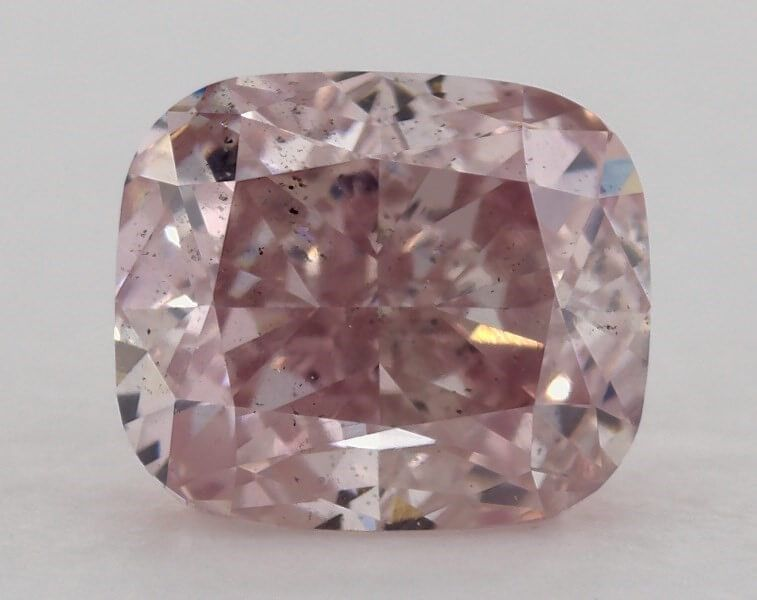 1.13 Carat, Natural Fancy Purplish Pink, SI1 Clarity, Cushion, GIA