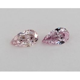 0.39 & 0.40 Carat, Fancy Pink-Purple, Pear, GIA