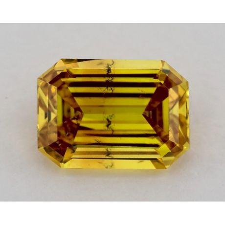 1.50 Carat, Fancy Deep Orangey Yellow, SI2 Clarity, Radiant, GIA