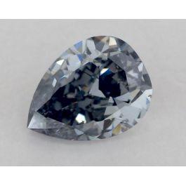 0.42 Carat, Fancy Grayish Blue, Pear, VS2 Clarity, GIA