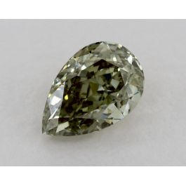 0.70 Carat, Fancy Grayish Yellowish Green, SI2 Clarity, PEar, GIA
