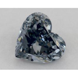 0.31 Carat, Natural Fancy Grayish Blue, SI2 Clarity, Heart Shape, GIA