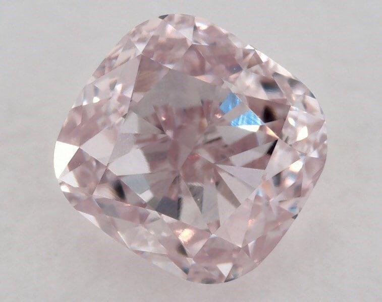 0.74 Carat, Natural Fancy Light Pink, VS2 Clarity, Cushion, GIA