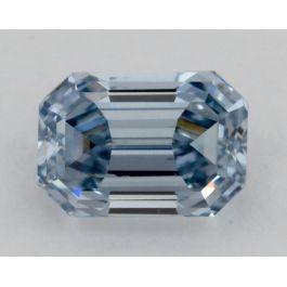 0.23 Carat, Natural Fancy Intense Blue, SI2 Clarity, Emerald cut, GIA