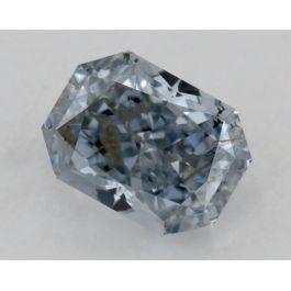 0.23 Carat, Natural Fancy Blue, Radiant, GIA