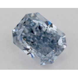 0.39 Carat, Natural Fancy Intense Blue, I1 Clarity, Radiant, GIA